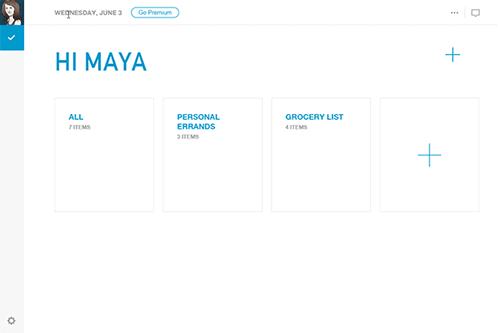 Any.do's Web App
